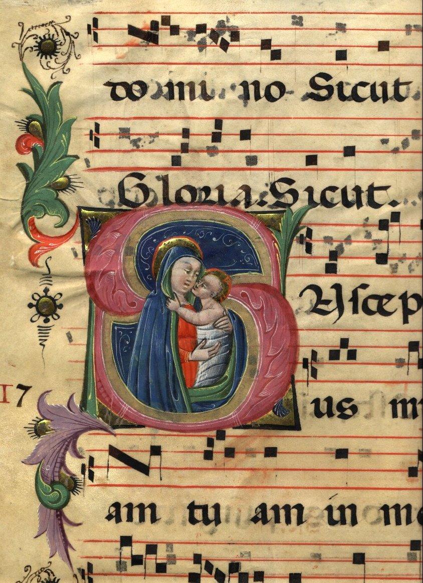 Antifonario in pergamena del sec. XV