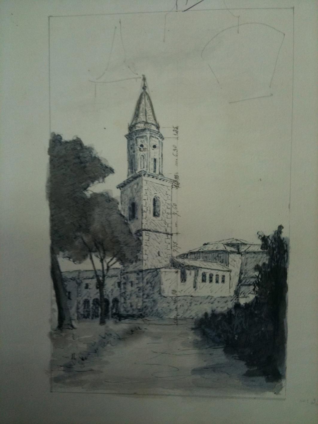 Il Complesso conventuale in un disegno di fine Ottocento