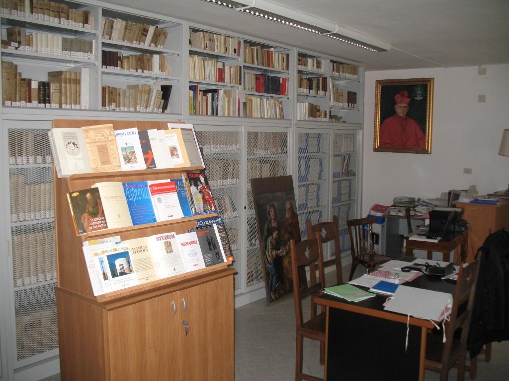 Sala studio ed espositore